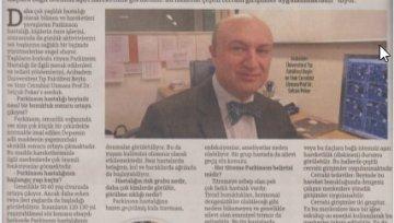 Hürriyet Gazetesi - Parkinson ve Beyin Pili Röportajı
